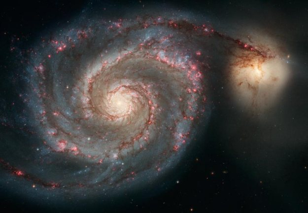 Whirlpool Galaxy and Companion. Credit: NASA, ESA